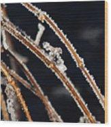 Lace Ice Wood Print