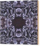 Lace Ice On Monadnock - 4 Wood Print