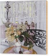 Lacey Curtain And Pastry Wood Print