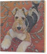 Wire-haried Fox Terrier Wood Print