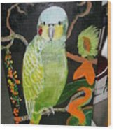 Lacey Jewel Bird Wood Print