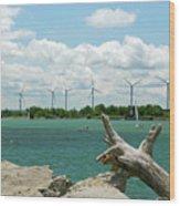 Lackawanna Wind Farm 5079 Wood Print