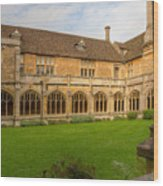 Lacock Abbey Cloisters 1 Wood Print