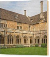 Lacock Abbey Cloisters 2 Wood Print