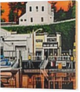 Laconner Waterfront Art Panel Wood Print