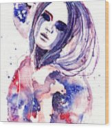 Lacrima Nebula  Wood Print by Alexandra-Emily Kokova