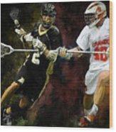 Lacrosse Close D #2 Wood Print