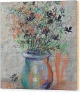 Lacy Bouquet Wood Print
