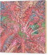 Lacy Pink Palms Wood Print