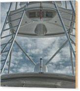 Ladders On A Fishing Boat Wood Print