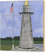 Ladies Delight Lighthouse Maine Wood Print