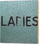 Ladies Wood Print