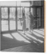 Ladies Leaving The Mall  Wood Print