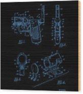 Ladies Pistol Compact Patent Art Wood Print