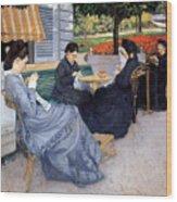 Ladies Sewing Wood Print