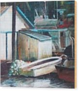 Ladner Harbour Wood Print