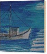 Lady Blue Wood Print