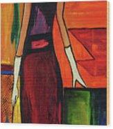 Bichon Frise Lady Wood Print
