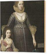 Lady Cavendish Later Countess Wood Print
