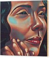 Lady Coretta Wood Print