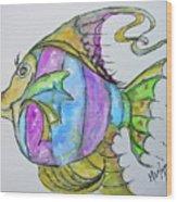 Lady Fish  Wood Print