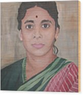 Lady From India Wood Print