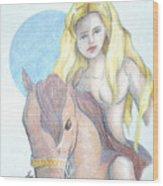 Lady Godiva Wood Print
