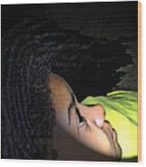 Lady In Dreadz Wood Print