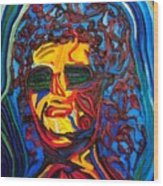 Lady In Sunglasses Wood Print