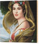 Lady In Veil Wood Print