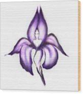 Lady Iris Wood Print