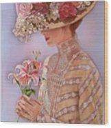 Lady Jessica Wood Print by Sue Halstenberg