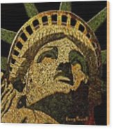 Lady Liberty Wood Print by Doug Powell