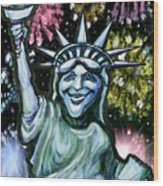 Lady Liberty Wood Print