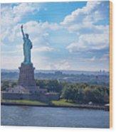 Lady Liberty Ny Harbor Wood Print