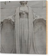 Lady Liberty On Alamo Monument Wood Print