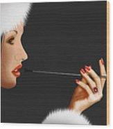 Lady Ninotschka Wood Print