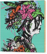 Lady Of The Garden Wood Print
