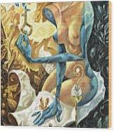 Lady Of The Key Wood Print