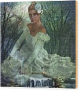 Lady Of The Lake  Wood Print