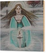 Lady Of The Lake II Wood Print
