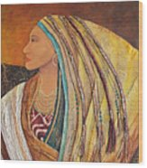 Lady Of The Mountains Wood Print