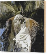 Lady Of The Palms Wood Print