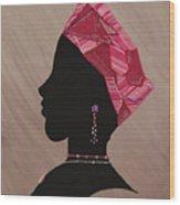 Lady Pink Wood Print