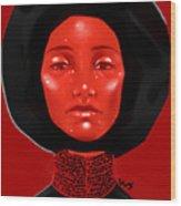 Lady Red Wood Print