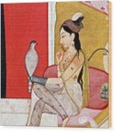 Lady With A Hawk Wood Print