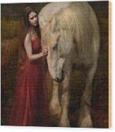 Lady With An Ermine  Wood Print by Dorota Kudyba