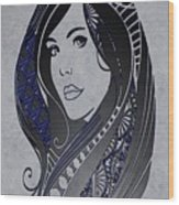 Lady Zen Wood Print