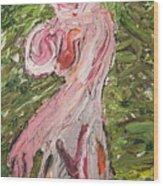 Lady08 Wood Print
