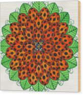 Ladybug Design Wood Print